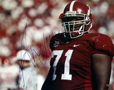 Andre Smith Alabama Close Up Autographed Photo (Hand Signed Collectable)