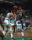 Magic Johnson Los Angeles Lakers vs Boston Celtics Autographed Photo (Hand Signed Collectable)