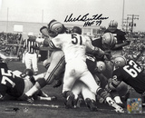 Dick Butkus Chicago Bears - Packer Pile Up with HOF  Autographed Photo (Hand Signed Collectable)
