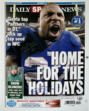 "Brandon Jacobs Daily News ""Home for the Holidays"" Cover Re-Print"