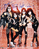 Kiss Band Signed Group Pose Fire graph