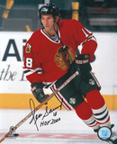 Denis Savard Chicago Blackhawks with HOF '00  Autographed Photo (Hand Signed Collectable)