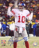 Eli Manning New York Giants - NFC Championship Action Autographed Photo (Hand Signed Collectable)