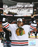 Jordan Hendry Chicago Blackhawks -Holding the Stanley Cup Autographed Photo (H& Signed Collectable)