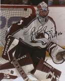 Patrick Roy Colorado Avalanche with HOF Inscription