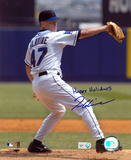 Tom Glavine New York Mets with Happy Holidays  Autographed Photo (Hand Signed Collectable)