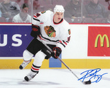 Rene Bourque Chicago Blackhawks Autographed Photo (Hand Signed Collectable)