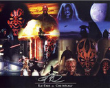 Ray Park Star Wars Collage Autographed Movie Photo (Hand Signed Collectable)