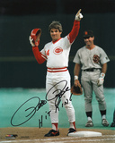 Pete Rose Cincinnati Reds - 4192 Hit with Hit King  Autographed Photo (Hand Signed Collectable)