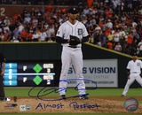 Armando Galarraga Detroit Tigers with Almost Perfect  Autographed Photo (Hand Signed Collectable)