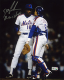 "Dwight ""Doc"" Gooden NY Mets with Gary Carter with 86 Autographed Photo (Hand Signed Collectable)"