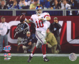 Eli Manning New York Giants SB XLII with SB XLII MVP Autographed Photo (H& Signed Collectable)