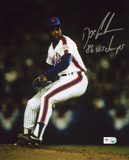 "Dwight ""Doc"" Gooden NY Mets Pitching with 86 WS Champs Autographed Photo (Hand Signed Collectable)"