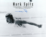 Mark Spitz Olympian with 7 Gold Medal Text