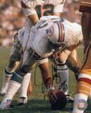 Jim Langer Miami Dolphins with HOF '87 and 17-0  Autographed Photo (Hand Signed Collectable)