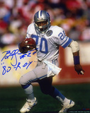 Billy Sims Detroit Lions with 80 ROY Inscription Autographed Photo (Hand Signed Collectable)