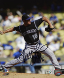 Huston Street Colorado Rockies Autographed Photo (Hand Signed Collectable)