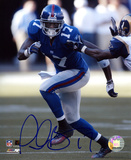 Plaxico Burress New York Giants - Running Autographed Photo (Hand Signed Collectable)