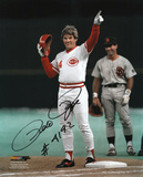 Pete Rose - Cincinnati Reds 4192 Hit Signed Picture with 4192 Hit Inscription