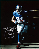 Tiki Barber Last Time Out of the Giants Tunnel 16x20