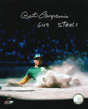 Bert Campaneris Oakland Athletics with 649 Steals Inscription