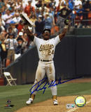 Rickey Henderson Oakl& Athletics - Record Breaking Steal Autographed Photo (H& Signed Collectable)