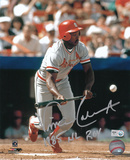 Vince Coleman St Louis Cardinals with 85 NL ROY  Autographed Photo (Hand Signed Collectable)