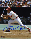 Pete Rose Cincinnati Reds - Swinging Autographed Photo (Hand Signed Collectable)