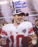 Eli Manning New York Giants SB Confetti with SB XLII MVP Autographed Photo (H& Signed Collectable)