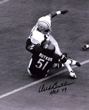 Dick Butkus Chicago Bears -Tackling- with HOF 79 Inscription