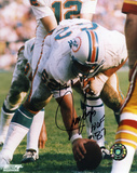 Jim Langer Miami Dolphins with HOF 17-0 Inscription Autographed Photo (Hand Signed Collectable)
