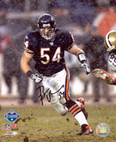 Brian Urlacher Chicago Bears - Snow Autographed Photo (Hand Signed Collectable)