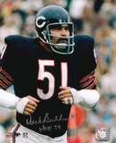 Dick Butkus Chicago Bears - Running with HOF 79 Inscription