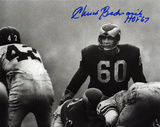 Chuck Bednarik Philadelphia Eagles with HOF 67 Inscription