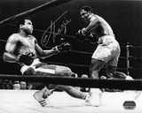 Joe Frazier - Knocking Down Muhammad Ali - B&W Autographed Photo (Hand Signed Collectable)