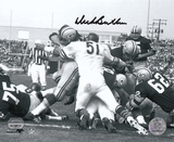 Dick Butkus Chicago Bears - Goal Line Stand - B&W Autographed Photo (Hand Signed Collectable)