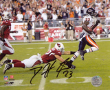 Devin Hester Bears Punt Return for TD vs Cardinals Autographed Photo (Hand Signed Collectable)