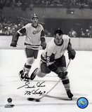 Gordie Howe Detroit Red Wings B&W with Mr Hockey 9  Autographed Photo (Hand Signed Collectable)