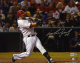 Mike Napoli Texas Rangers 2011 World Series Autographed Photo (Hand Signed Collectable)
