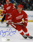 Brett Hull Detroit Red Wings Autographed Photo (Hand Signed Collectable)