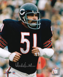 Dick Butkus Chicago Bears - Running Signed in Silver