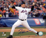 Tom Glavine New York Mets - Action Autographed Photo (Hand Signed Collectable)