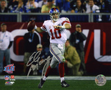 Eli Manning New York Giants - Super Bowl XLII Roll Out Autographed Photo (Hand Signed Collectable)