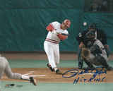Pete Rose Cincinnati Reds - Record Breaking At Bat with Hit King Inscription