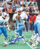 Warren Moon Houston Oilers with HOF Inscription Autographed Photo (Hand Signed Collectable)