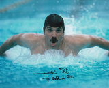 Mark Spitz Olympian -Swimming with 7 Gold in 72 Inscription
