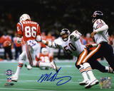 Mike Singletary Chicago Bears - Super Bowl XX Action Autographed Photo (Hand Signed Collectable)