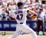 Tom Glavine New York Mets - Back View Autographed Photo (Hand Signed Collectable)