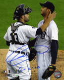 Armando Galarraga Detroit Tigers with 6-2-10  Autographed Photo (Hand Signed Collectable)