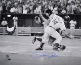 Pete Rose Cincinnati Reds - Collision Autographed Photo (Hand Signed Collectable)